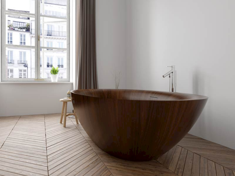 Holzbadewannen und mehr f r ihr badezimmer alegna for Holzbadewannen freistehend